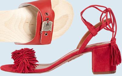 8 mẫu giày đỏ cho mùa hè thêm rực rỡ